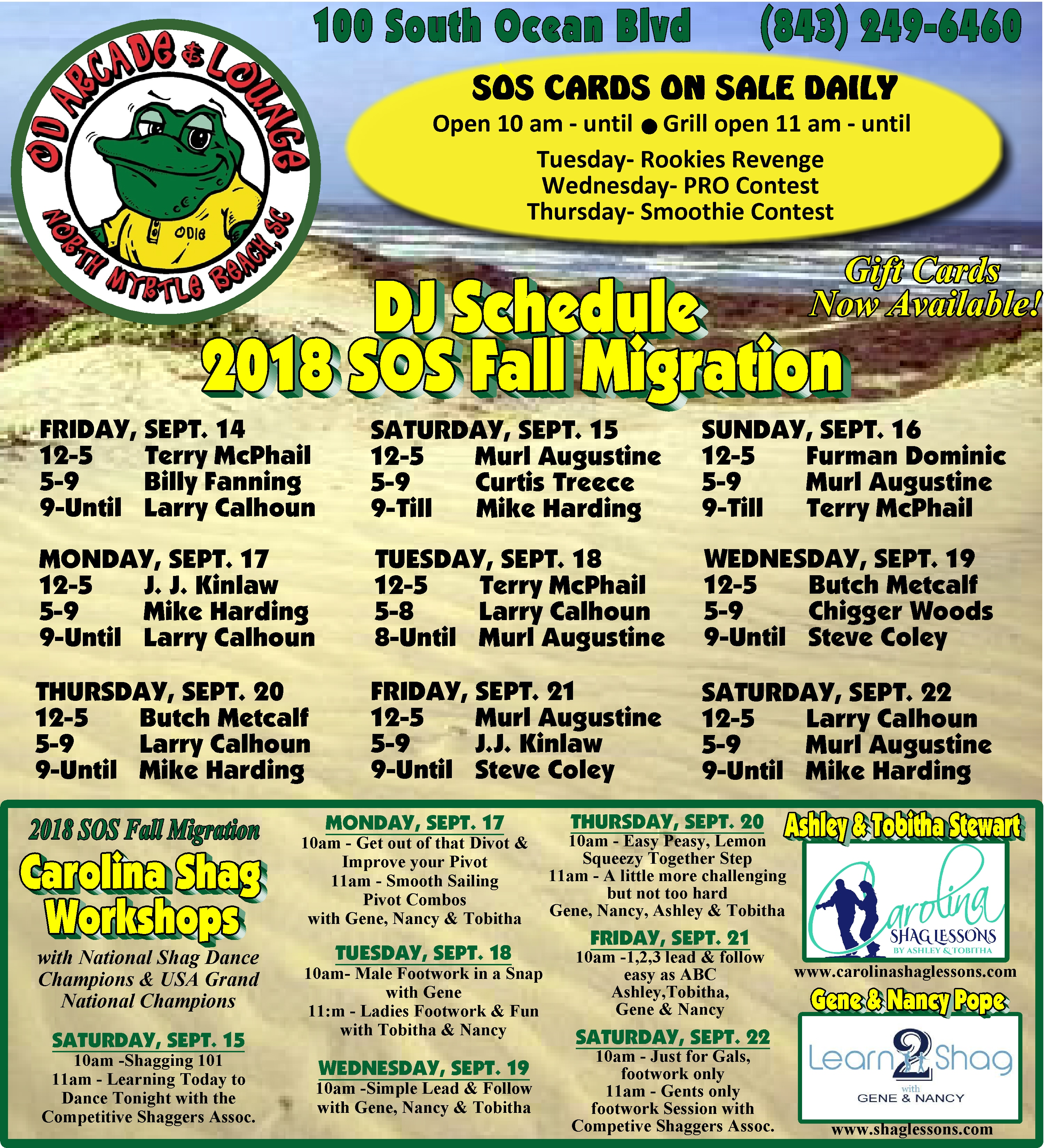 sos lounges and dj schedules